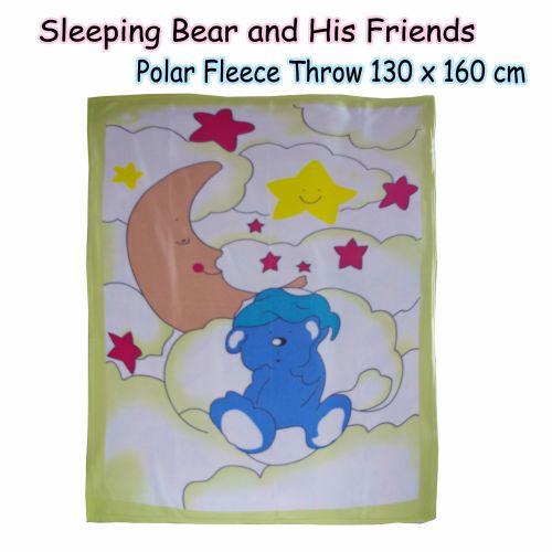 Sleeping Bear and His Friends Polar Fleece Throw