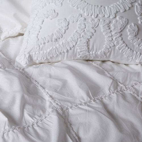 Barclay White Quilt Cover Set by Private Collection