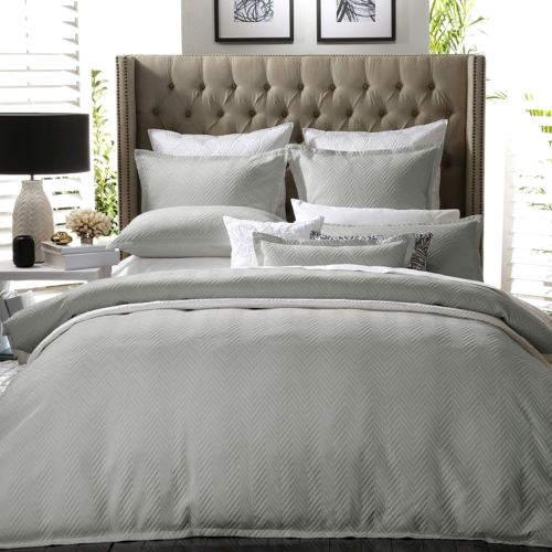 Metro Silver Quilt Cover Set by Private Collection