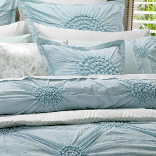 Tamsin Seafoam Quilt Cover Set by Private Collection