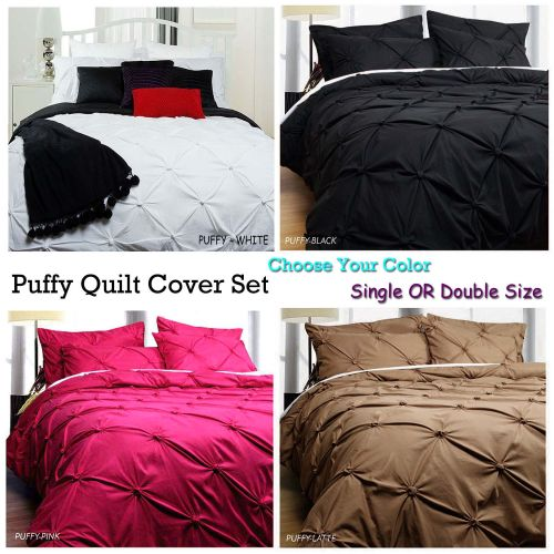 Puffy Quilt Cover Set Choose Your Color by Bloomington & Accessorize