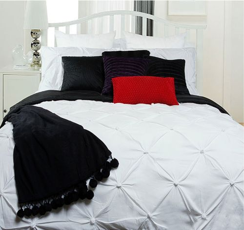 Puffy Quilt Cover Set White by Accessorize