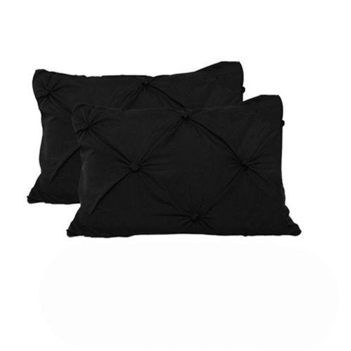 Puffy Standard Pillowcases x 2 Black
