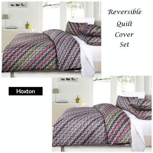 Hoxton Reversible Quilt Cover Set