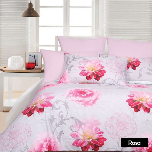 Rosa Silver Quilt Cover Set
