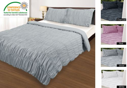 Ruched Quilt Cover Set