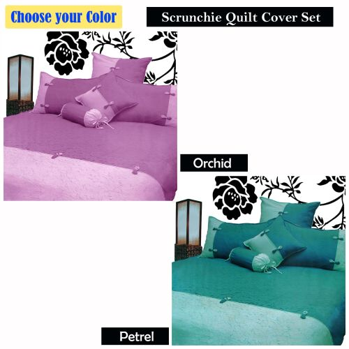 Scrunchie Orchid or Petrel Quilt Cover Set by Phase 2