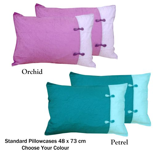 Scrunchie Petrel Pair of Standard Pillowcases by Phase 2