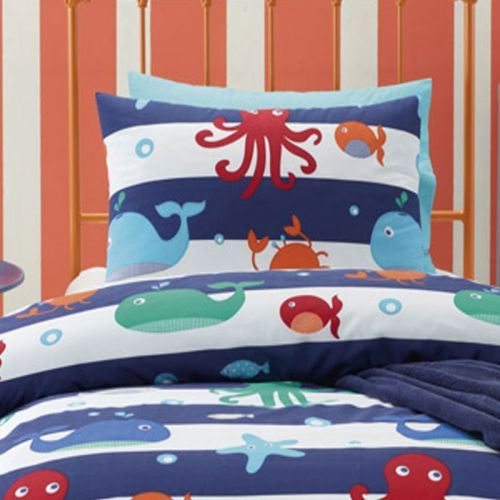 Sea Creature Quilt Cover Set by Jiggle & Giggle