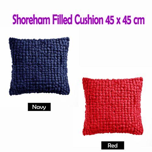Shoreham Appliqued Filled Cushion 45cm x 45cm