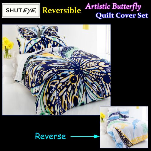Artistic Butterfly Quilt Cover Set by Shuteye