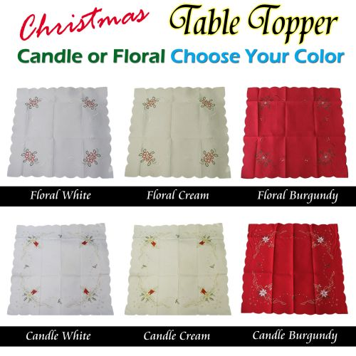 Christmas Tablecloth Topper Choose Your Color & Size