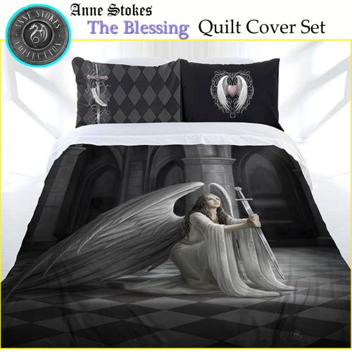 Blessing Quilt Cover Set by Anne Stokes