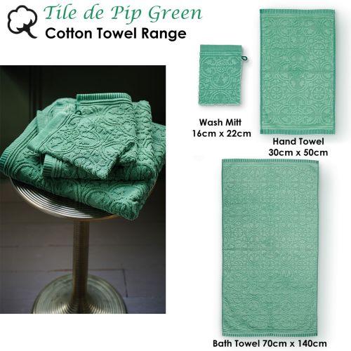 Tile de Pip Green Towel or Wash Mitt by PIP Studio