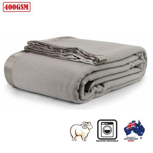 400GSM Australian Washable Wool Blanket Platinum by Jason