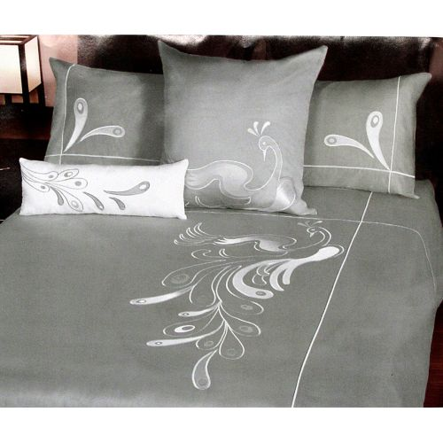 White Peacock Quilt Cover Set by Orient Sense