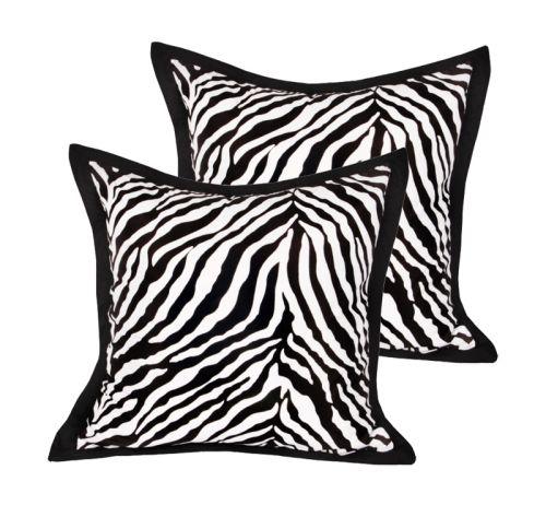 Zebra European Pillowcase x 2
