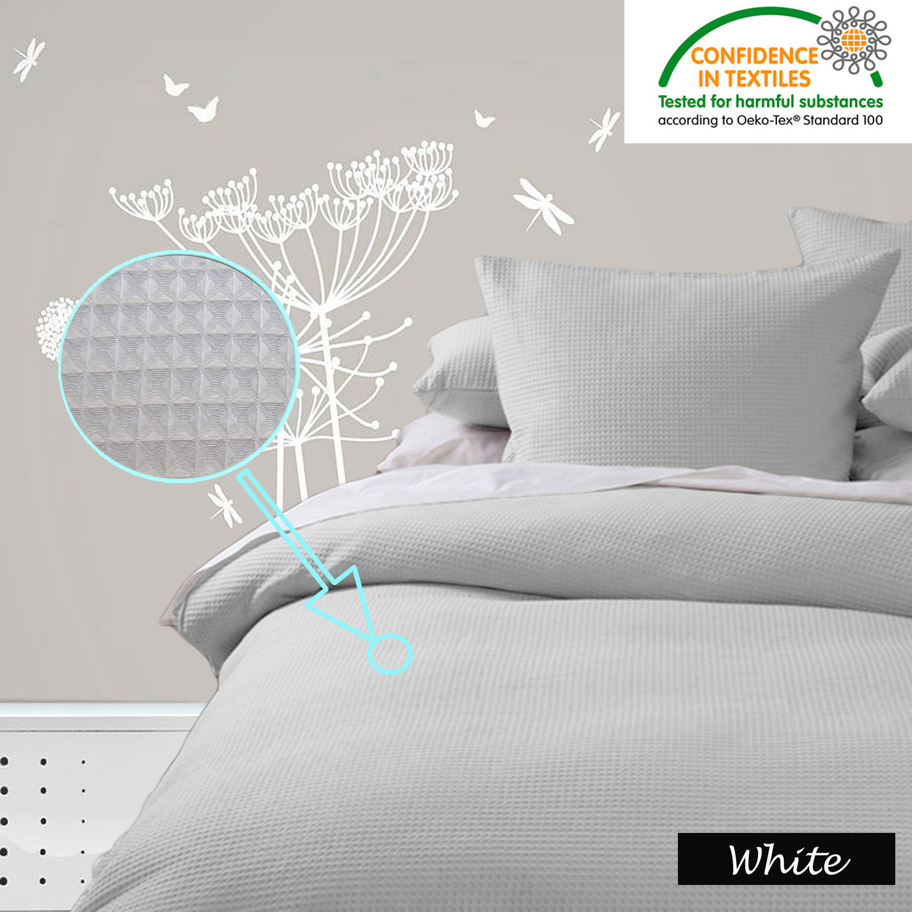 100 waffle bed linen waffle terry robe