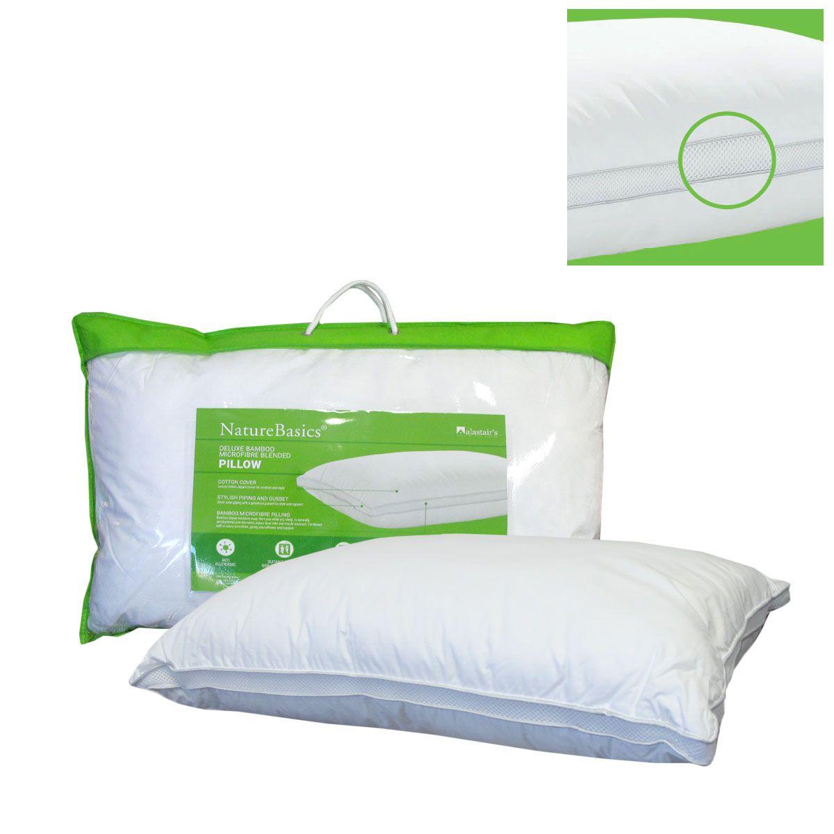 Alastairs Nature Basics Memory Foam Medium Profile PillowBamboo Cover